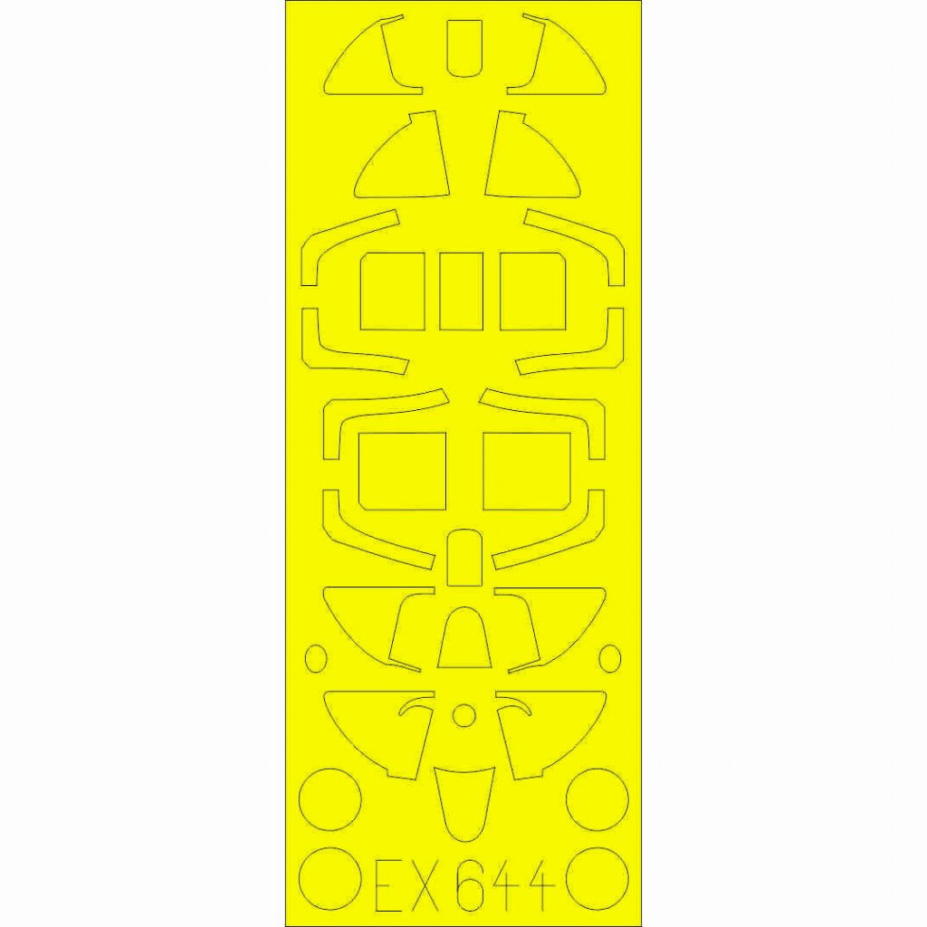 【新製品】EX644 スピットファイアMk.I Tフェース(キャノピー両面塗装用マスクシール)