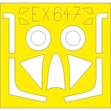 【新製品】EX647 ホーカー ハンター F.6 塗装マスクシール (エアフィックス用)