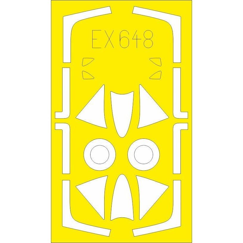 【新製品】EX648 ホーカー ハンター F.6 「Tフェース」両面塗装マスクシール(エアフィックス用)