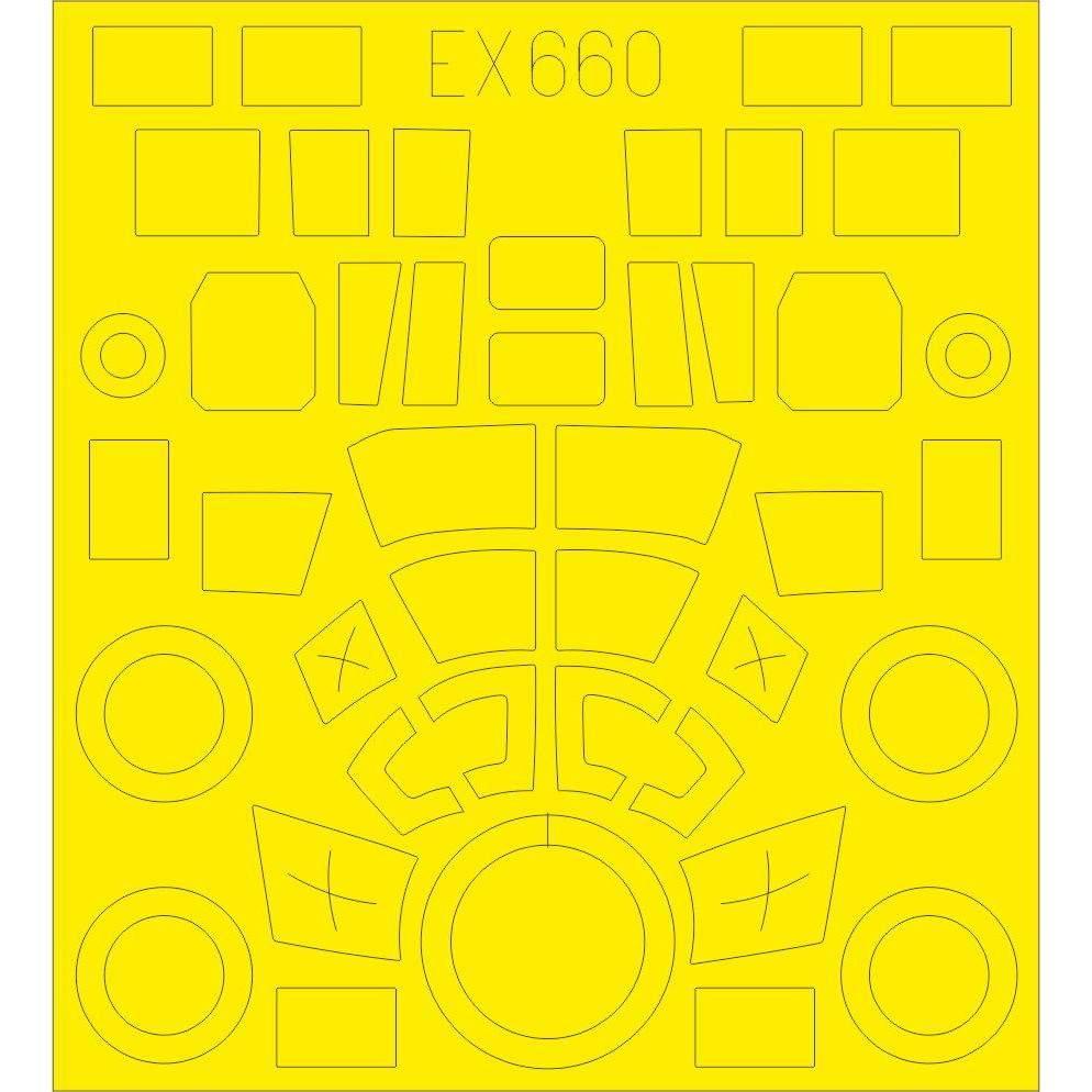 【新製品】EX660 ジーベル Si 204D 塗装マスクシール(スペシャルホビー用)