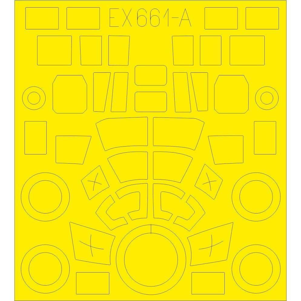 【新製品】EX661 ジーベル Si 204D 「Tフェース」 両面塗装マスクシール(スペシャルホビー用)