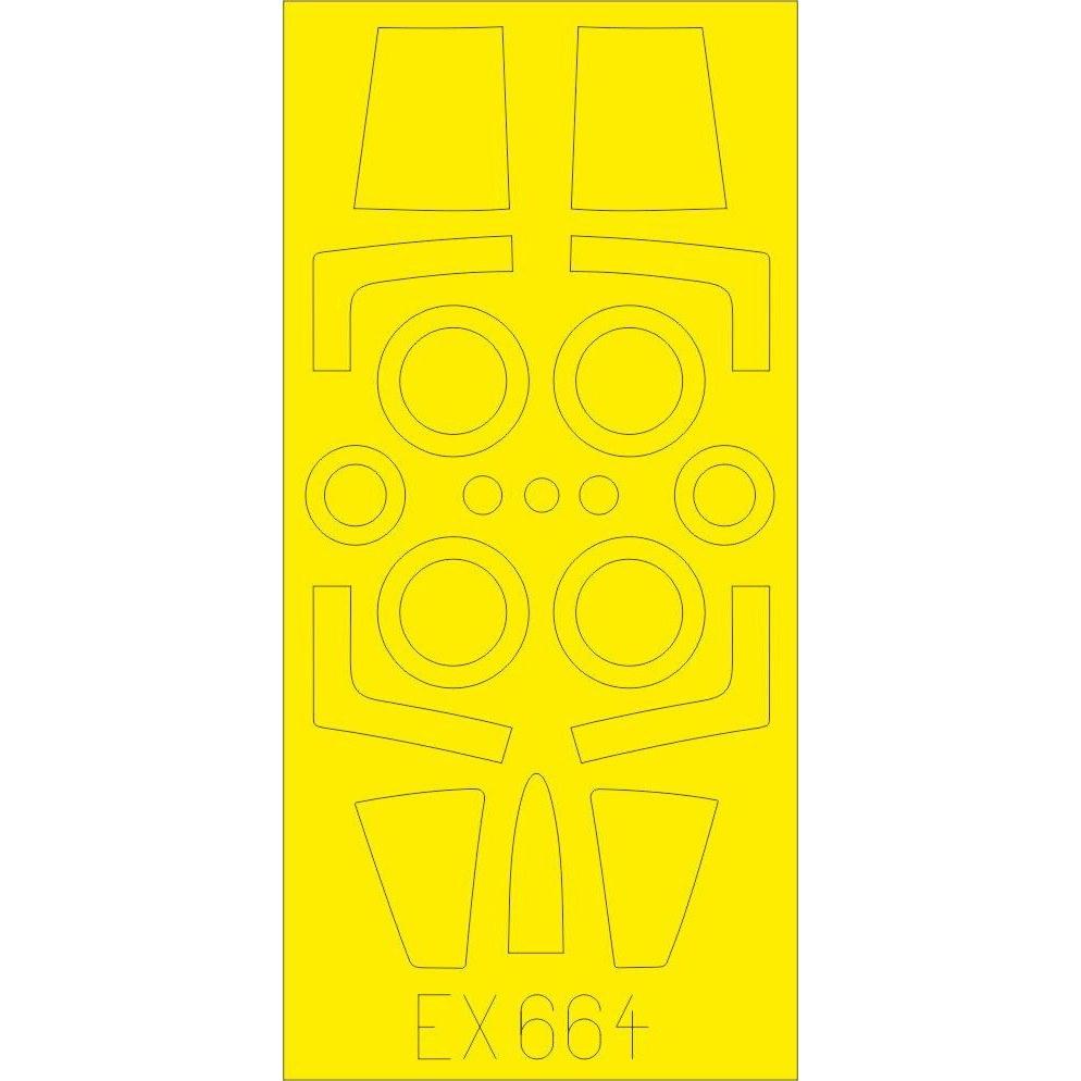 【新製品】EX664 ロッキード F-104G スターファイター 塗装マスクシール (キネティック用)
