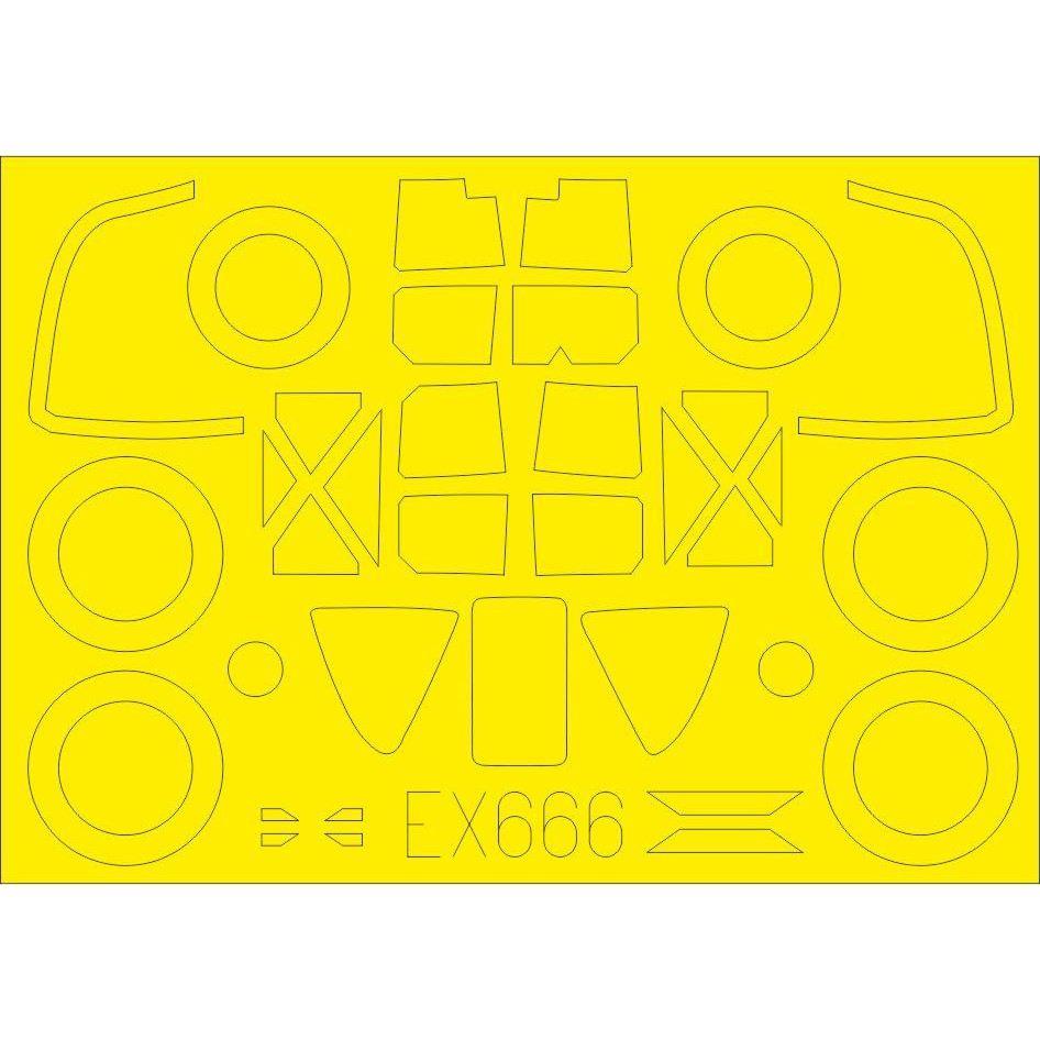 【新製品】EX666 ロッキード P-38F/G ライトニング 塗装マスクシール (タミヤ用)