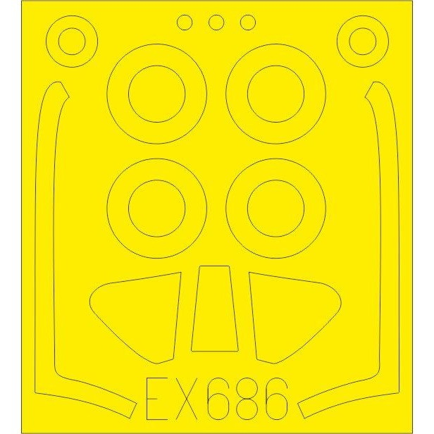 【新製品】EX686 ノースアメリカン P-51H マスタング 塗装マスクシール (モデルズビット用)