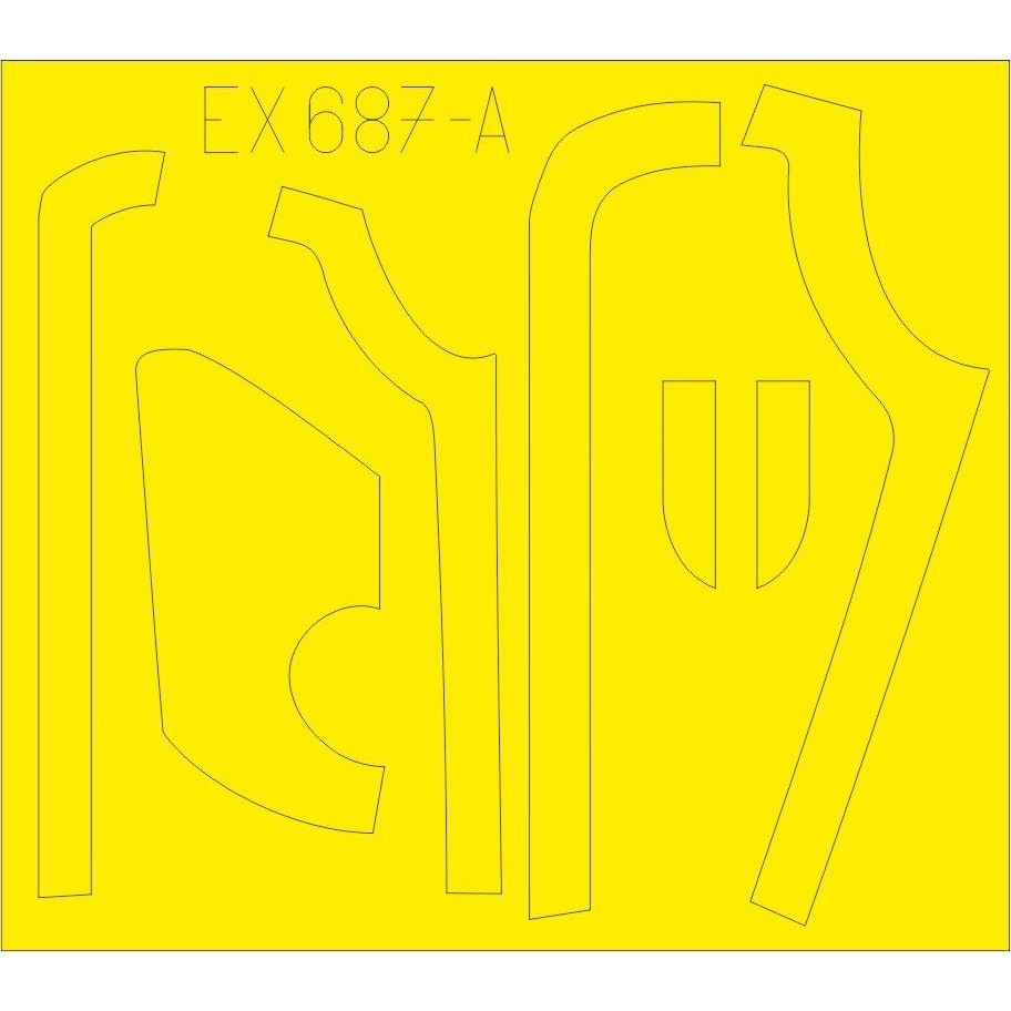 【新製品】EX687 ボーイング B-17G フライングフォートレス アンチグレア (ボーイング式/ダグラス式) 塗装マスクシール (HKモデル用)