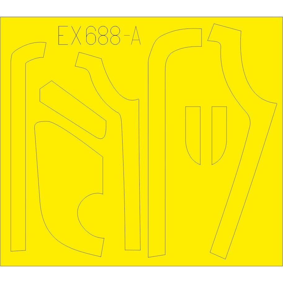 【新製品】EX688 ボーイング B-17G フライングフォートレス アンチグレア (ロッキードべガ式) 塗装マスクシール (HKモデル用)