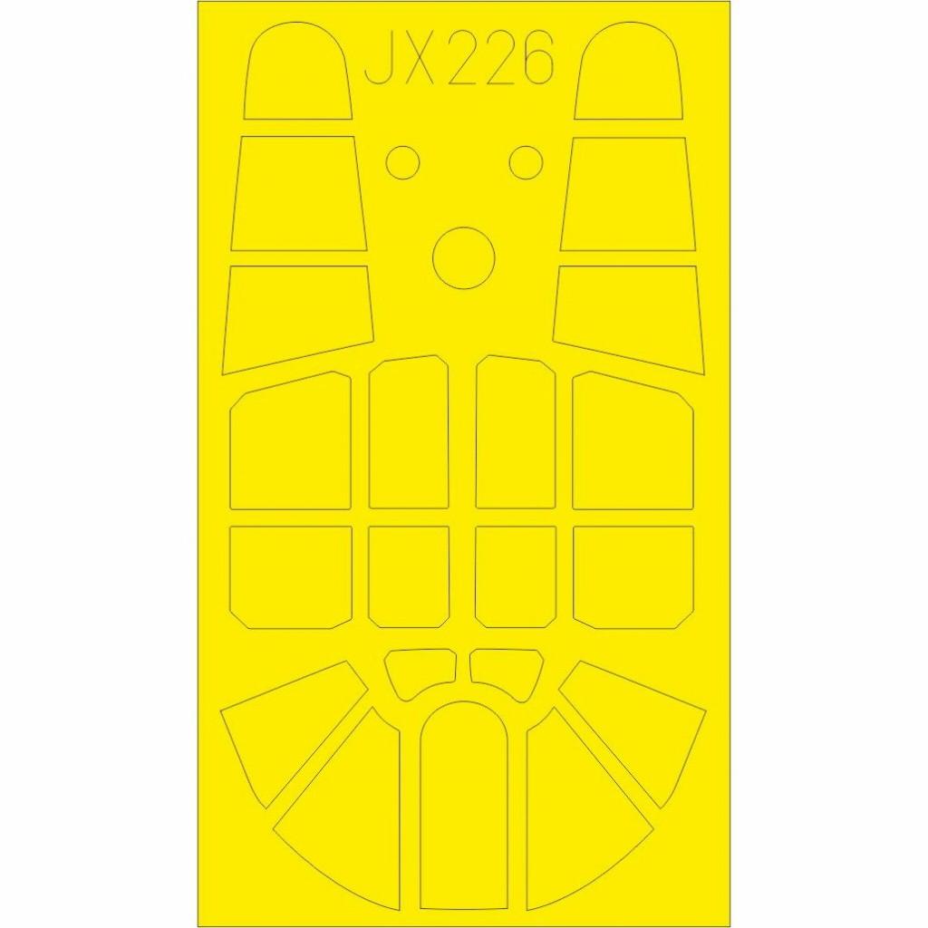 【新製品】JX226 カーチス P-40F 塗装マスクシール (トランぺッター用)
