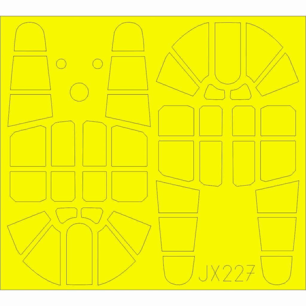 【新製品】JX227 カーチス P-40F 「Tフェース」 両面塗装マスクシール(トランぺッター用)