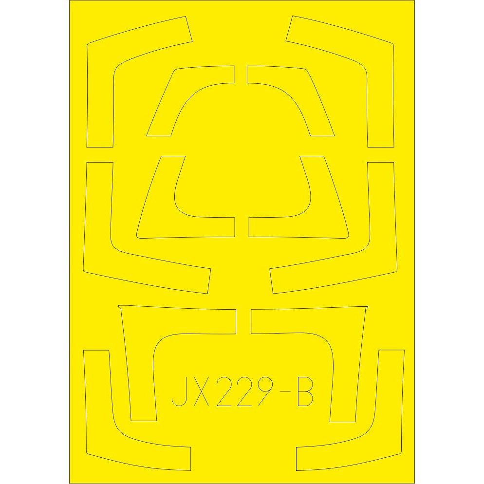 【新製品】JX229 ノースロップ F-5F タイガーII 「Tフェース」 両面塗装マスクシール(キティホーク用)