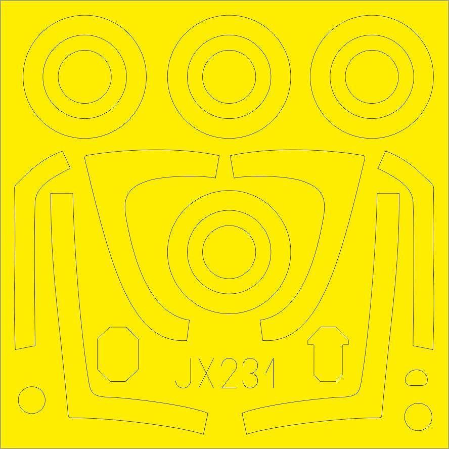 【新製品】JX231 F/A-18E スーパーホーネット 塗装マスクシール (レベル用)