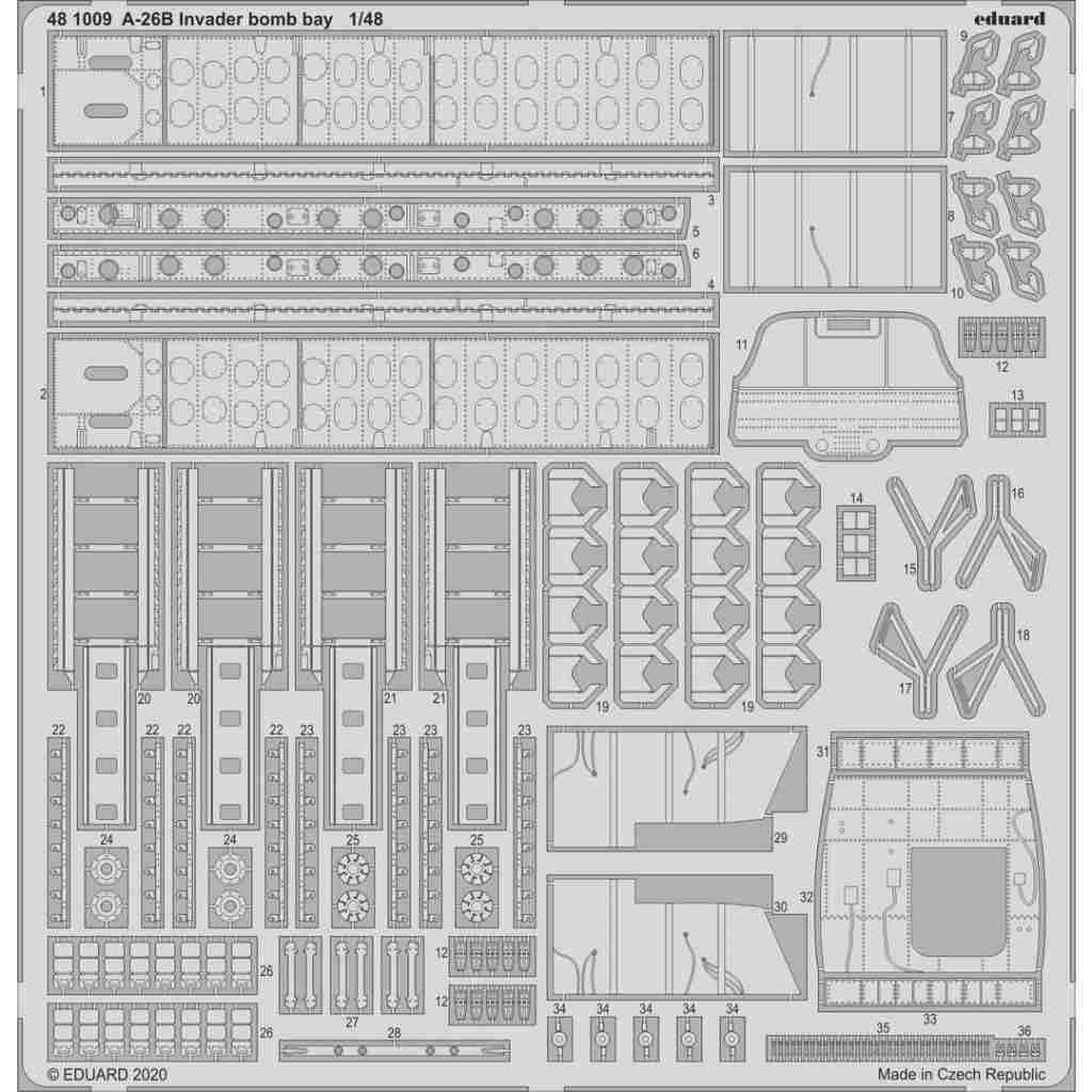 【新製品】481009 ダグラス A-26B インベーダー 爆弾槽エッチングパーツ (ICM用)