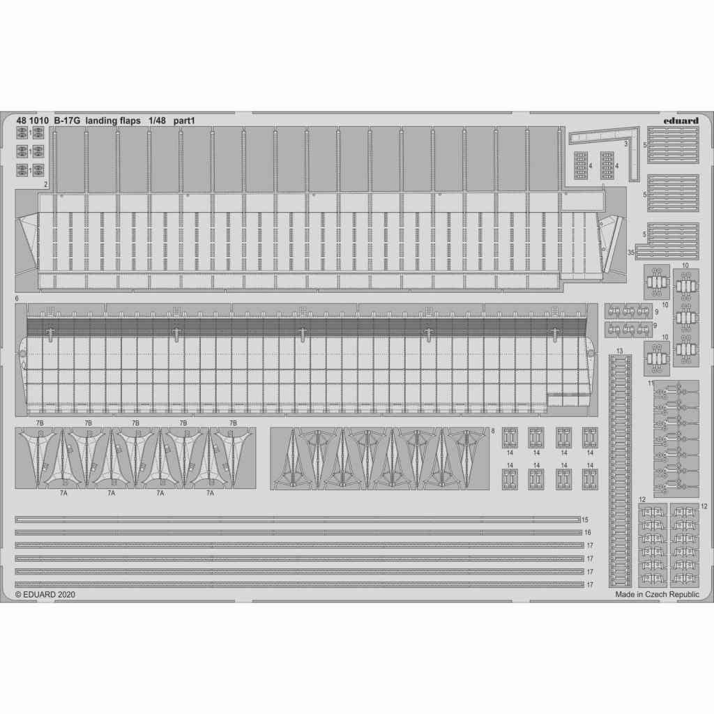 【新製品】481010 ボーイング B-17G フライングフォートレス ランディングフラップ (HKモデル用)