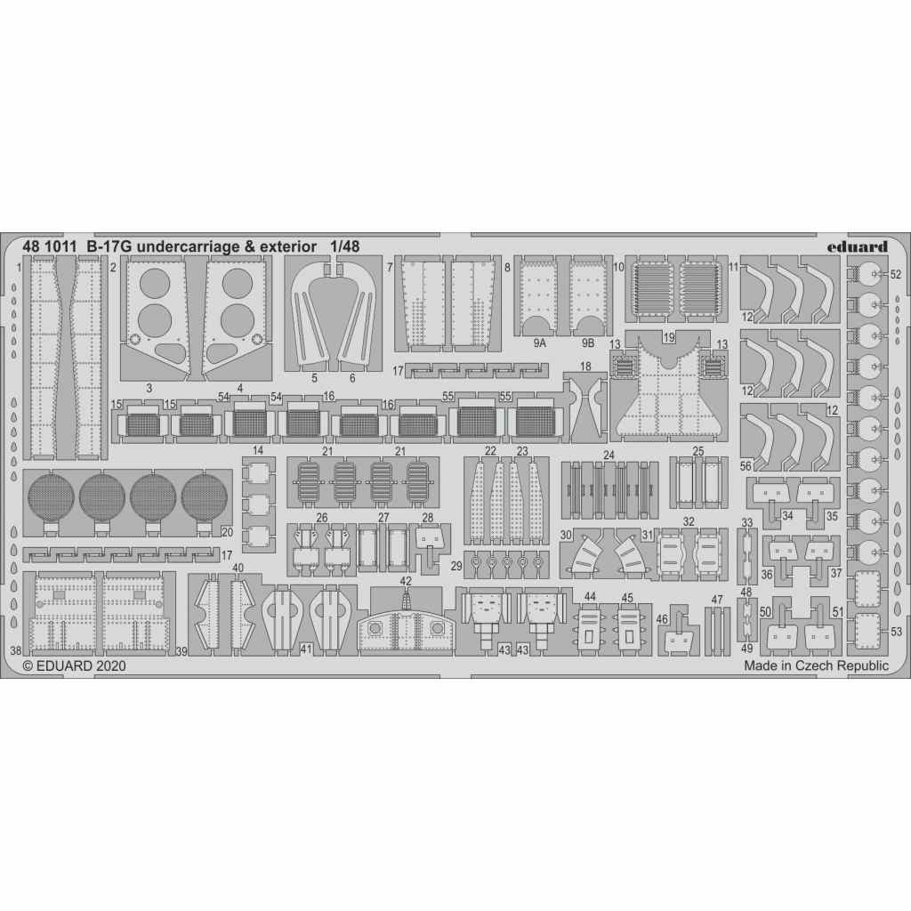 【新製品】481011 ボーイング B-17G フライングフォートレス 外装エッチングパーツ (HKモデル用)