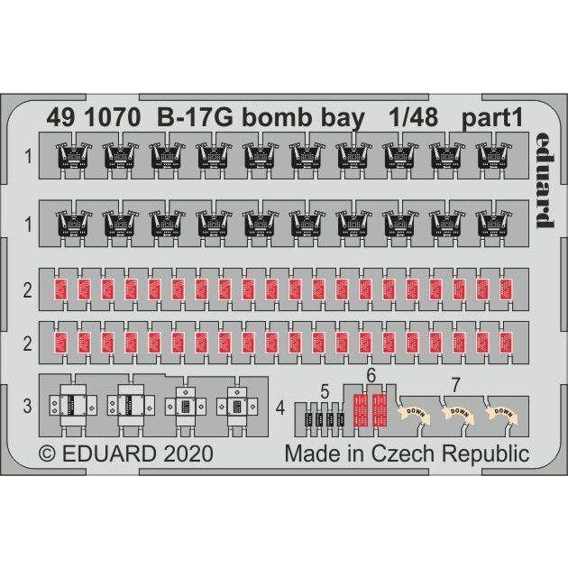 【新製品】491070 塗装済 ボーイング B-17G フライングフォートレス 爆弾槽エッチングパーツ (HKモデル用)