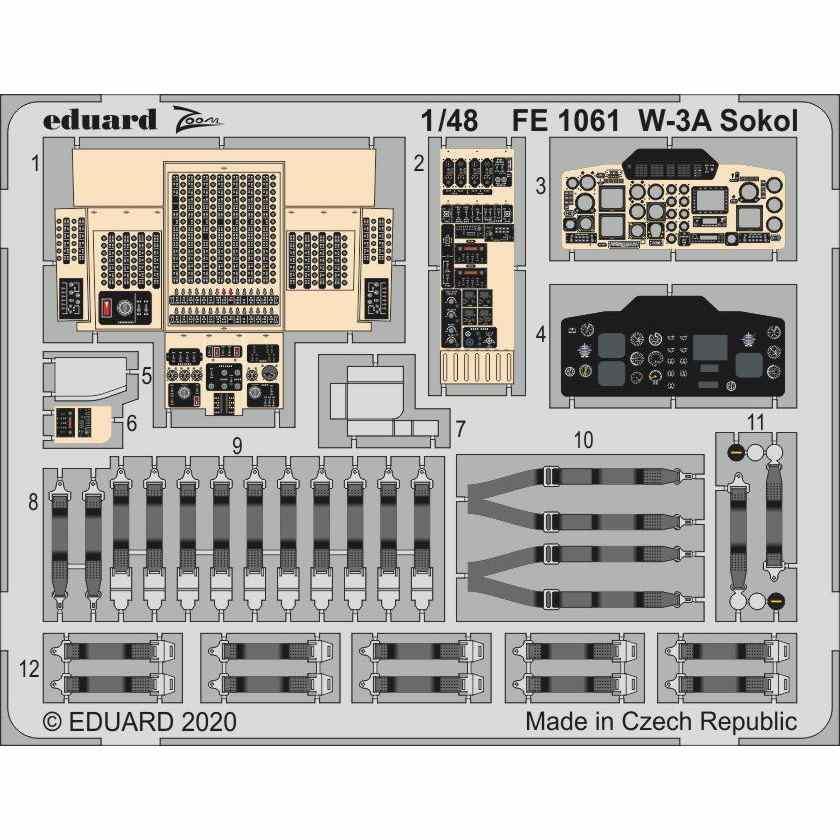 【新製品】FE1061 塗装済 PZL W-3A ソクウ ズームエッチングパーツ(アンサーキット用)