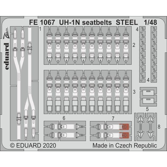 【新製品】FE1067 塗装済 UH-1N シートベルト (ステンレス製) (キティーホーク用)