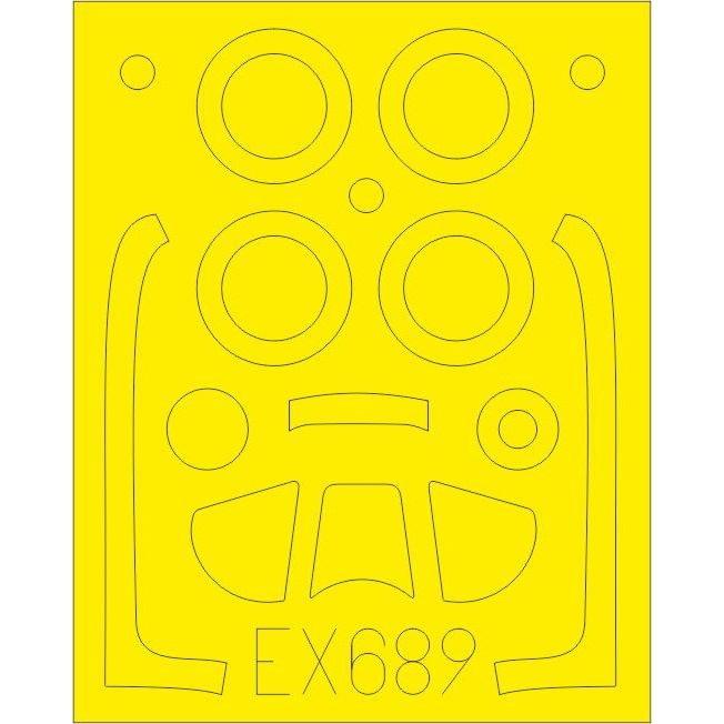 【新製品】EX689 ノースアメリカン P-51D-5 マスタング 塗装マスクシール (エアフィックス用)