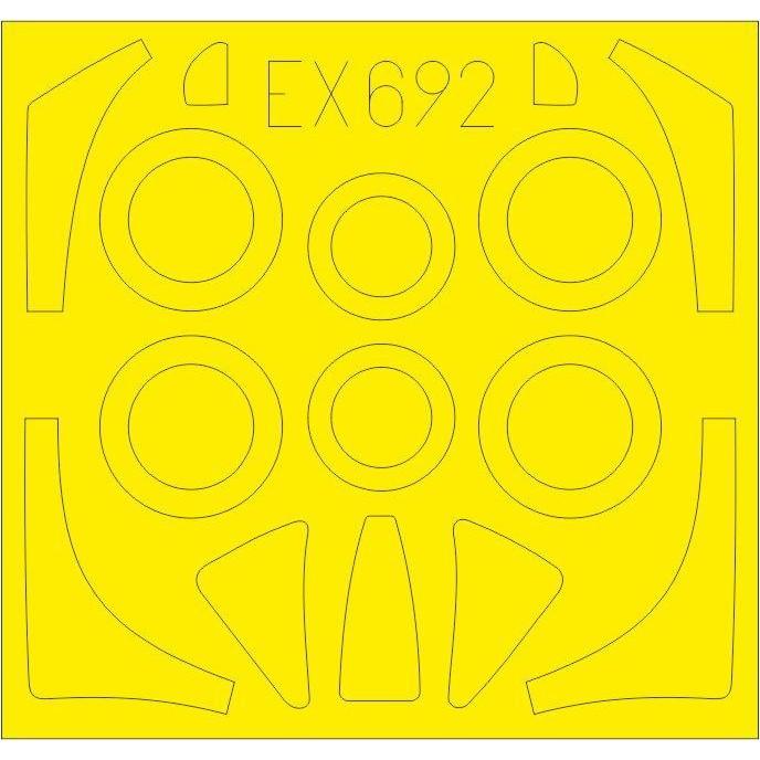 【新製品】EX692 ノースアメリカン FJ-2 フューリー 塗装マスクシール (キティーホーク用)