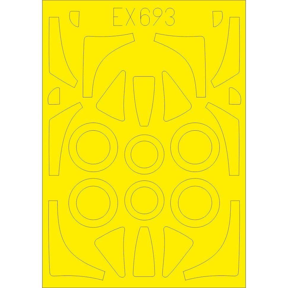 【新製品】EX693 ノースアメリカン FJ-2 フューリー 「Tフェース」 両面塗装マスクシール (キティーホーク用)