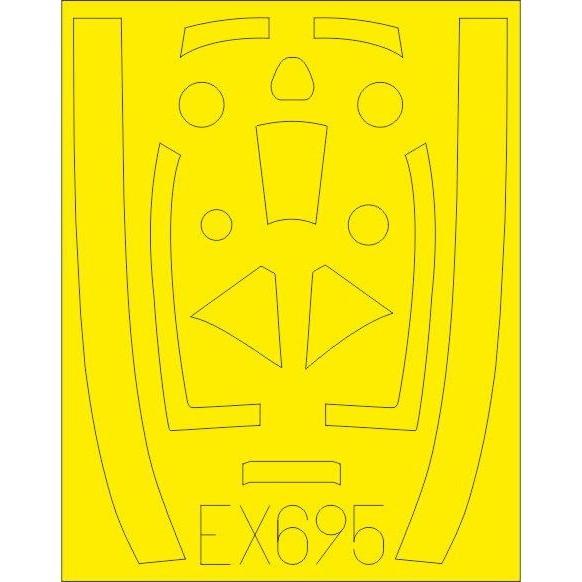 【新製品】EX695 ホーカー テンペスト Mk.V 塗装マスクシール (エデュアルド用)