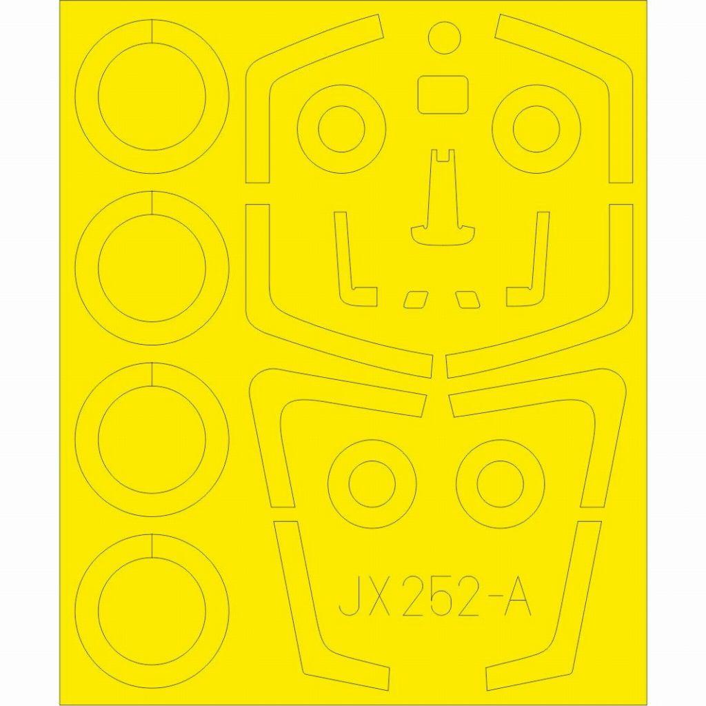 【新製品】JX252 ダッソー ミラージュ2000C 「Tフェース」 両面塗装マスクシール(キティーホーク用)