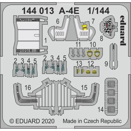 【新製品】144013 塗装済 ダグラス A-4E スカイホーク エッチングパーツ (エデュアルド/プラッツ用)