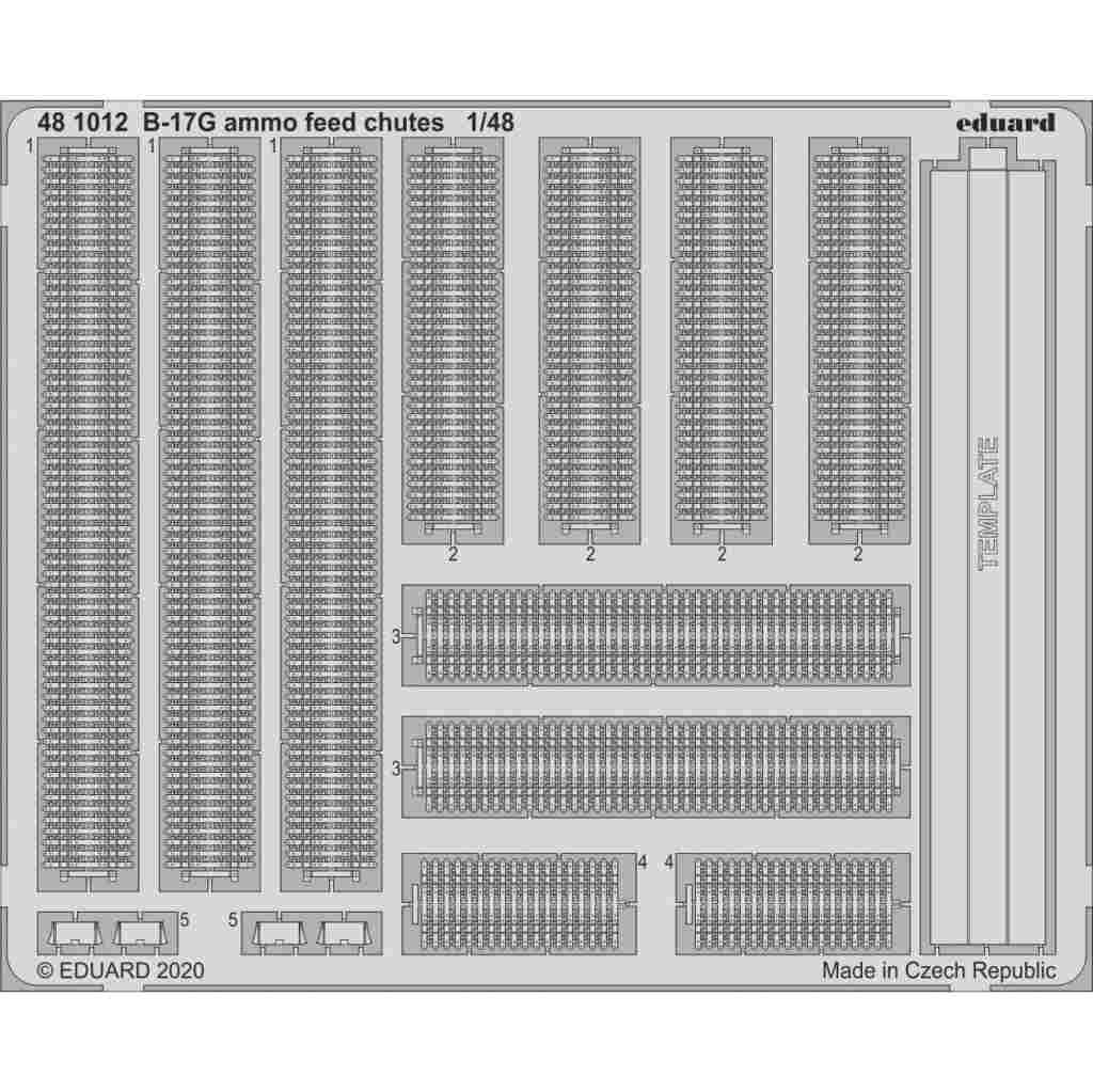 【新製品】481012 ボーイング B-17G フライングフォートレス 弾薬フィードシュート (HKモデル用)