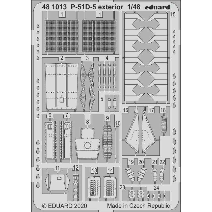 【新製品】481013 ノースアメリカン P-51D-5 マスタング 外装エッチングパーツ (エアフィックス用)