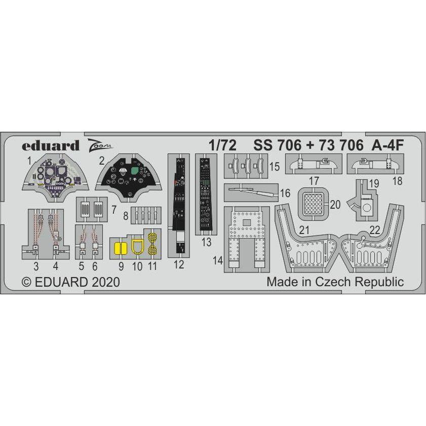【新製品】SS706 塗装済 ダグラス A-4F スカイホーク ズームエッチングパーツ (ホビーボス用)