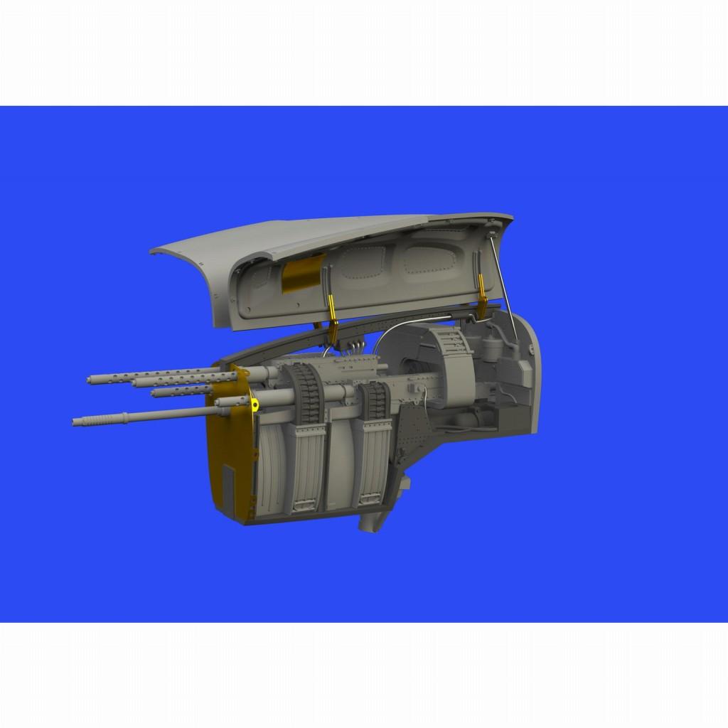 【新製品】ブラッシン648533 ロッキード P-38F/G ライトニング ガンベイ (タミヤ用)