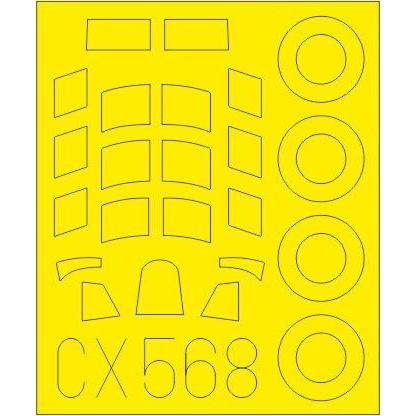 【新製品】CX568 ホーカー ハリケーン Mk.IIC 塗装マスクシール(アルマホビー用)