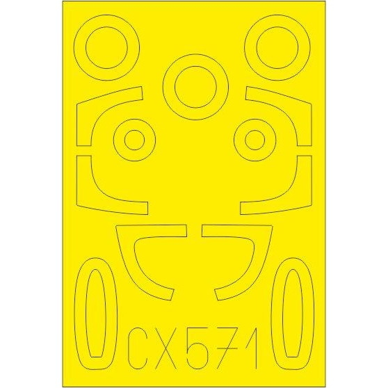 【新製品】CX571 He162A 塗装マスクシール (スペシャルホビー用)