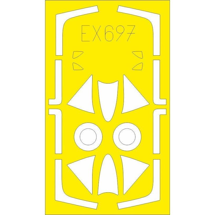 【新製品】EX697 ホーカー ハンター F.4/F.5 「Tフェース」 両面塗装マスクシール (エアフィックス用)