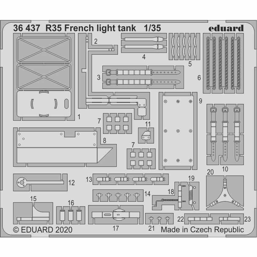 【新製品】36437 フランス軽戦車 R35 エッチングパーツ (タミヤ用)