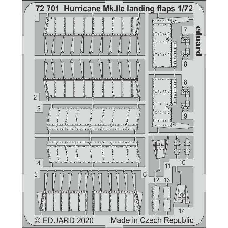 【新製品】72701 ホーカー ハリケーン Mk.IIC ランディングフラップ(アルマホビー用)