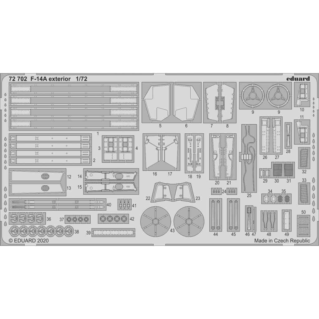 【新製品】72702 F-14A トムキャット 外装エッチングパーツ (アカデミー用)