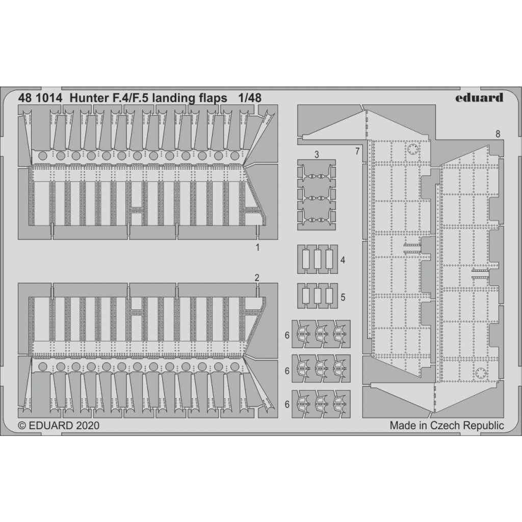 【新製品】481014 ホーカー ハンター F.4/F.5 ランディングフラップ(エアフィックス用)