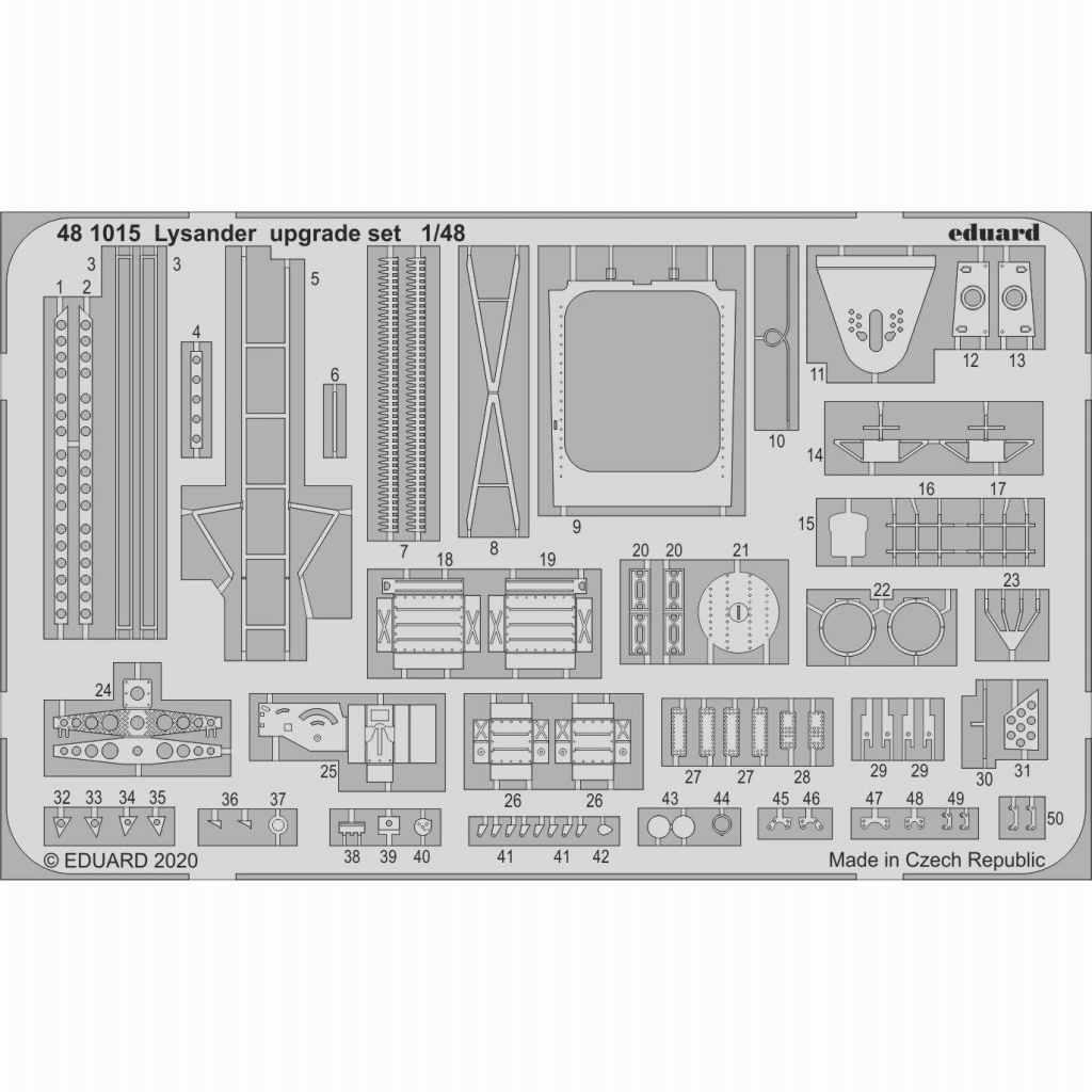 【新製品】481015 ライサンダー アップグレードエッチングパーツ(エデュアルド用)