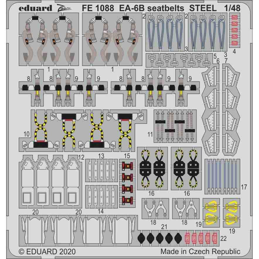 【新製品】FE1088 塗装済 EA-6B プラウラー シートベルト (キネティック用)