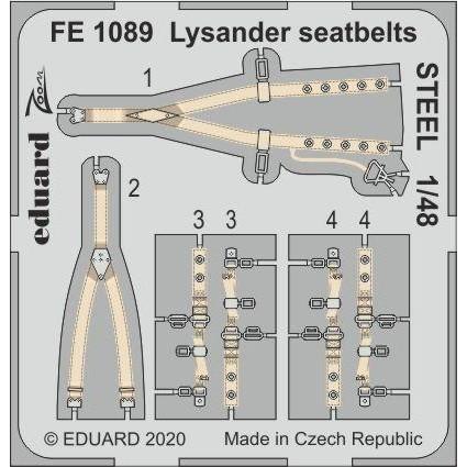 【新製品】FE1089 塗装済 ライサンダー シートベルト (ステンレス製)(エデュアルド用)