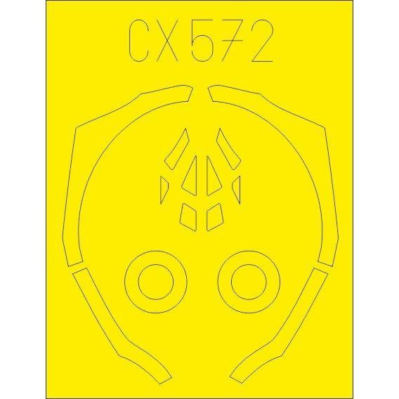【新製品】CX572 ロッキード・マーティン F-35B 塗装マスクシール (アカデミー用)