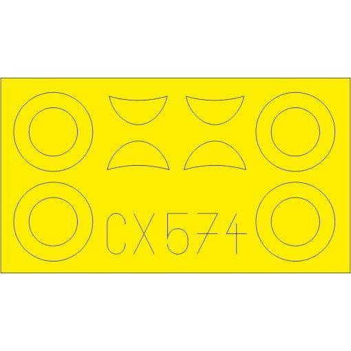 【新製品】CX574 ポリカルポフ U-2/Po-2VS 塗装マスクシール (ICM用)
