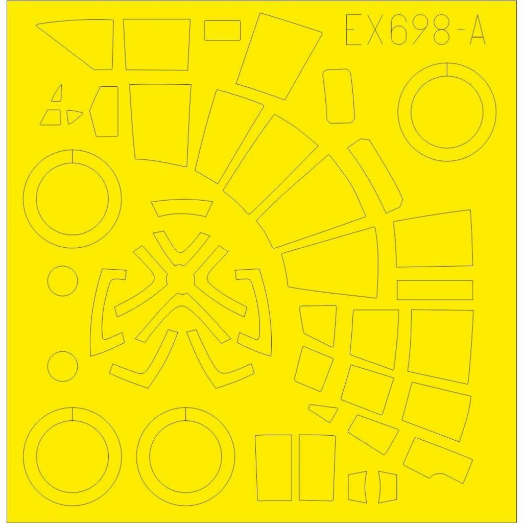 【新製品】EX698 ハインケル He111Z 塗装マスクシール (ICM用)