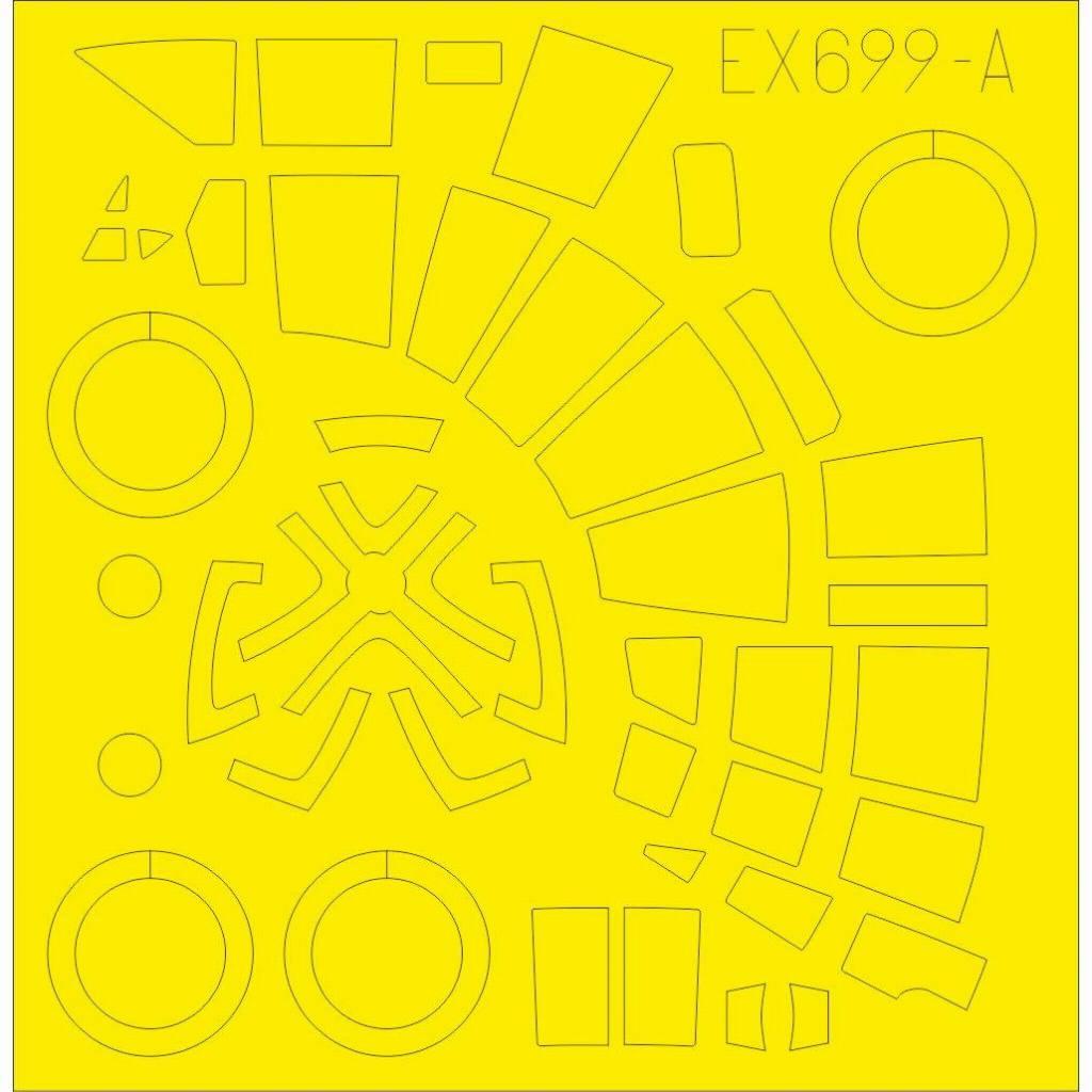 【新製品】EX699 ハインケル He111Z 「Tフェース」両面塗装マスクシール (ICM用)