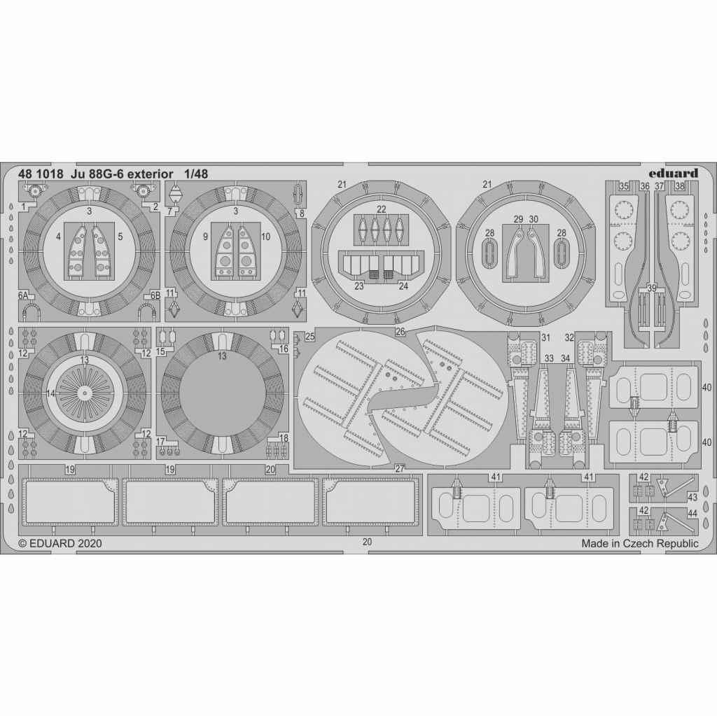 【新製品】481018 ユンカース Ju88G-6 外装エッチングパーツ (ドラゴン用)