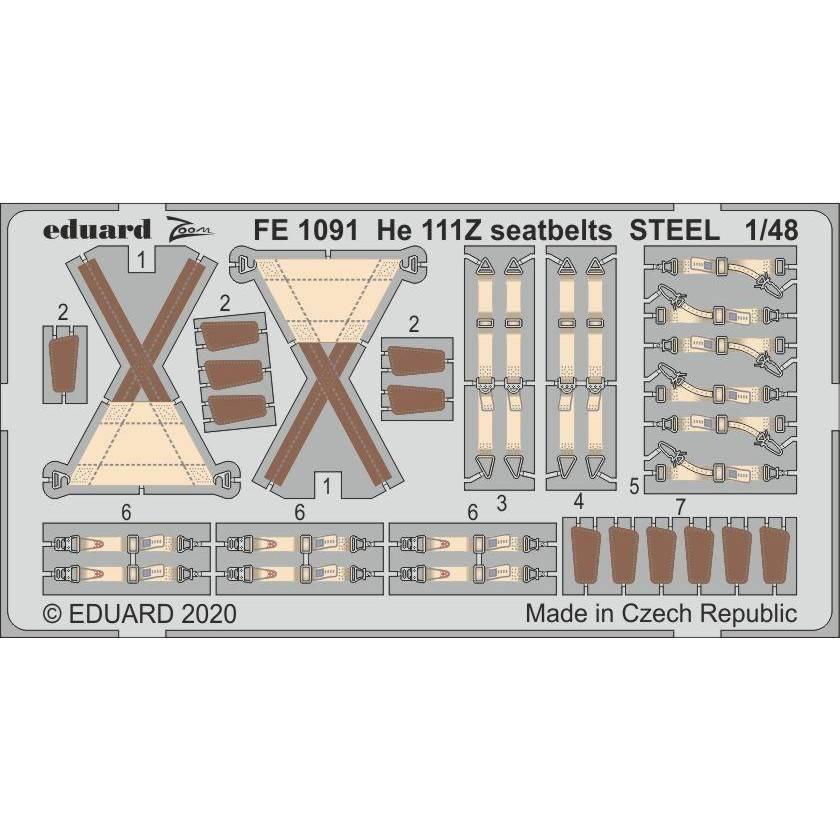 【新製品】FE1091 塗装済 ハインケル He111Z シートベルト (ステンレス製) (ICM用)