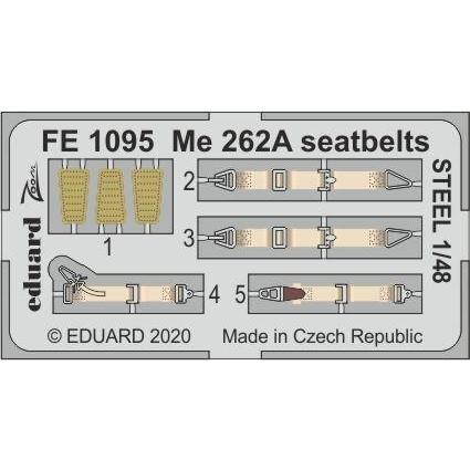 【新製品】FE1095 塗装済 メッサーシュミット Me262A シートベルト (ステンレス製) (ホビーボス用)