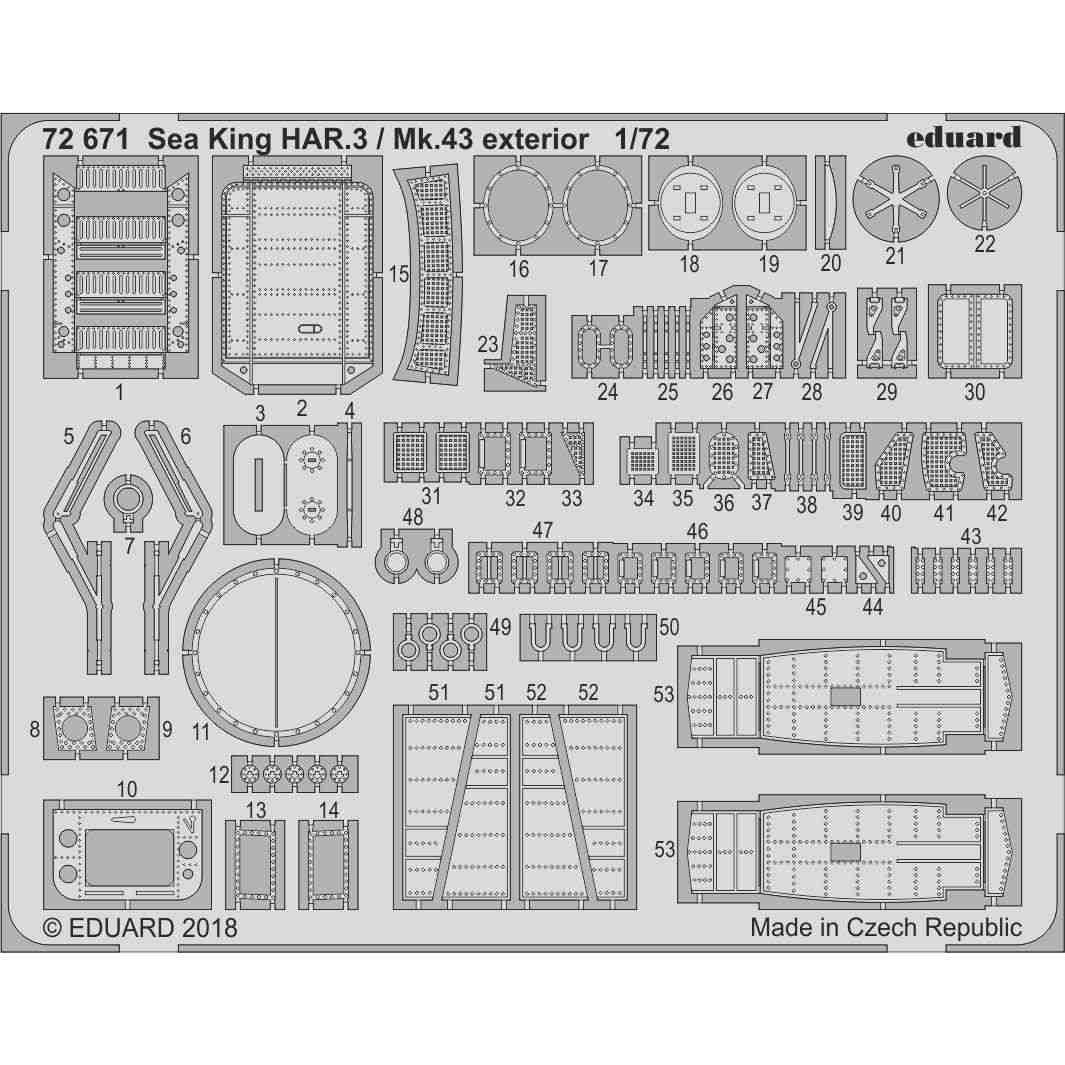 【新製品】72671 ウエストランド シーキング HAR3/Mk43 外装