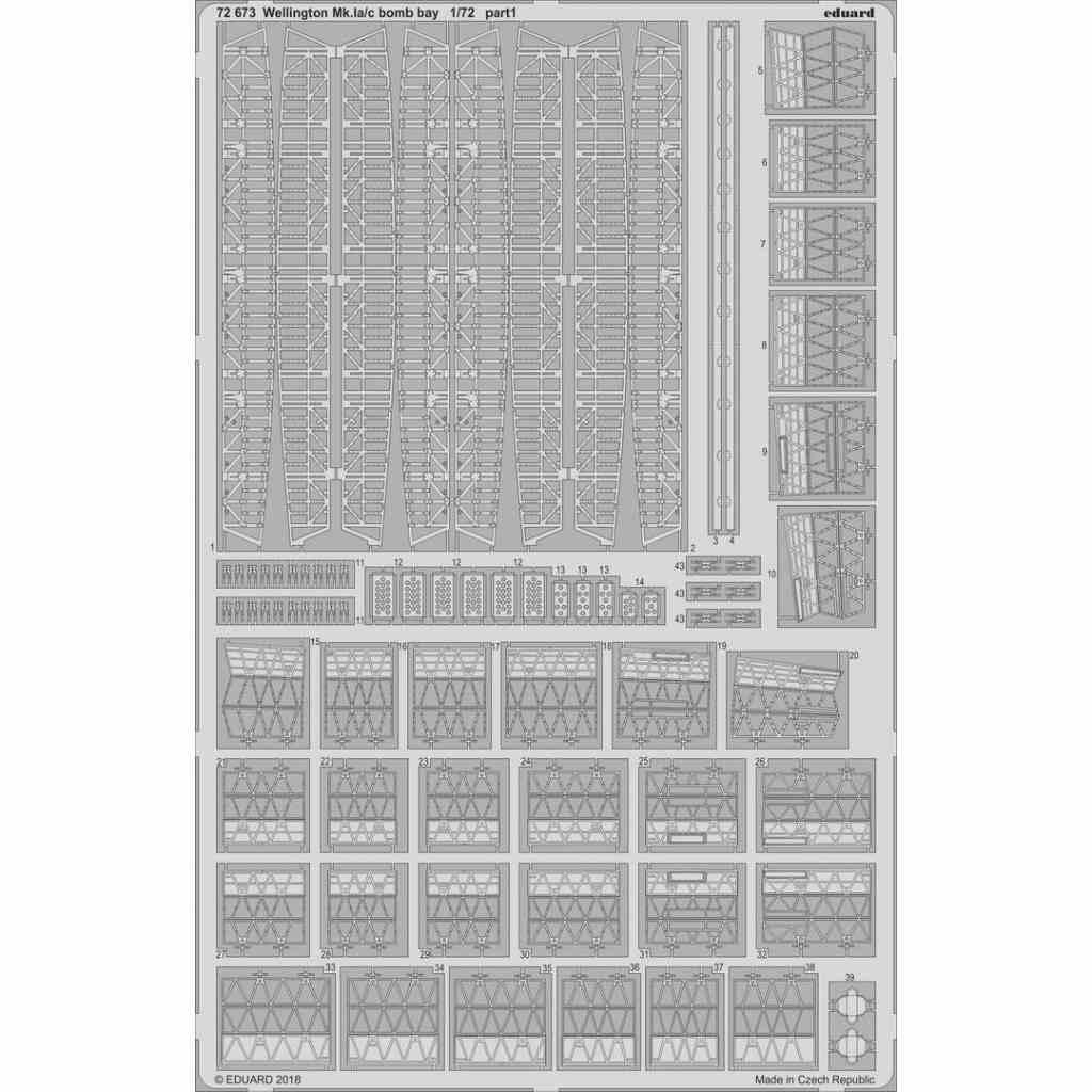 【新製品】72673 ビッカース ウェリントンMk.Ia/c 爆弾槽