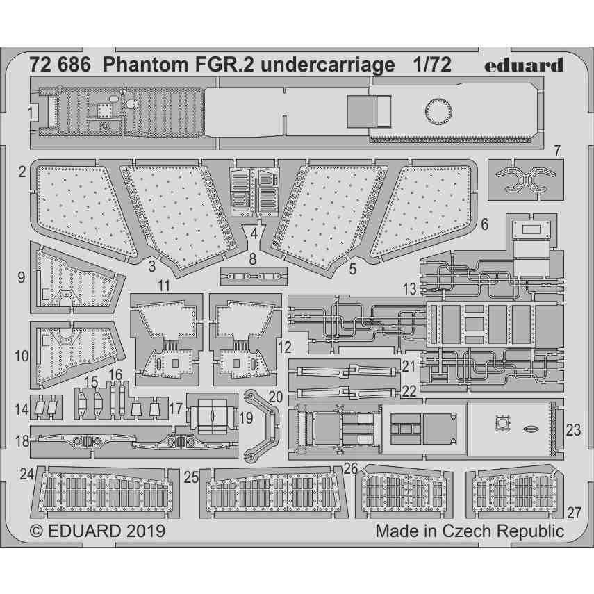 【新製品】72686 ファントム FGR.2 着陸装置エッチングパーツ(エアフィックス用)